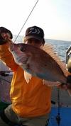 4月29日午後テンヤ真鯛船 釣果