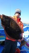 1月3日 ヒラメ船 釣果