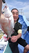 6月26日 午前テンヤ真鯛船 釣果