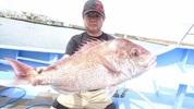 9月28日 テンヤ真鯛船 釣果 5,8kg 大鯛浮上!