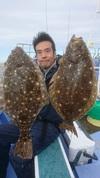 12月25日 ヒラメ船 釣果 8,5kg浮上!!