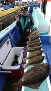 11月2日 ヒラメ船 釣果