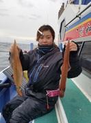 1月8日 初ヤリイカ船