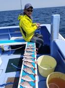 4月1日 活きエビ テンヤ真鯛船 釣果
