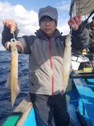 1月14日 ヤリイカ船・ヒラメ船 釣果