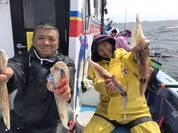 4月7日 ヤリイカ船 釣果 反応が ばっちり!!